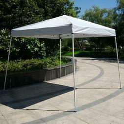 10'x 10'Pop Up Gazebo White Easy Pop-Up Canopy Party Tent Su