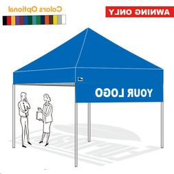 10FT Printed Drop Down Awning Custom LOGO Graphics for EZ Po