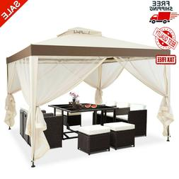 2-Tier 10'x10' Gazebo Canopy Tent Shelter Awning Steel Patio
