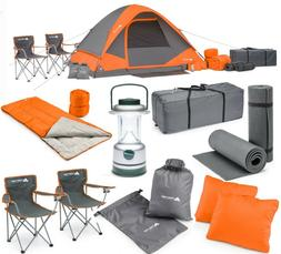 Ozark Trail 22-Piece Camping Gear Combo Outdoor Tent Chairs