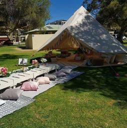 3M 4M 5M 6M 7M Waterproof Canvas Bell Tent Glamping Camping