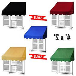 4' x 2' Window Awning Door Canopy Shelter Outdoor UV Protect