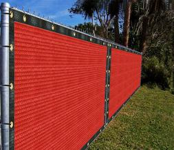 9'x3'-9'x100' Red Fence Privacy Screen Mesh Net Canopy Awnin