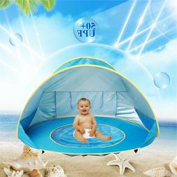 Baby Beach Tent UV-protecting Waterproof Sunshelter with Poo