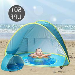 Baby Pop Up Beach Tent with Pool Sunshelter Waterproof Awnin