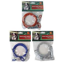 Camping Tent Awning Garden Dog Pet Tie Out Cable lead tether