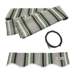 ALEKO Fabric Replacement For 20x10 Ft Retractable Awning Mul