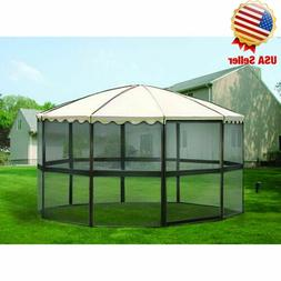 Free-Standing Outdoor Backyard Patio Metal Screen House Gaze