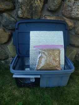 Hand made insulated outdoor feral cat shelter with removable