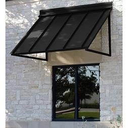 Awntech 4-Feet Houstonian Metal Standing Seam Awning, 24 by