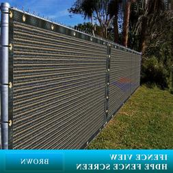 Ifenceview 11  Width Brown Fence Privacy Screen Net Mesh Awn