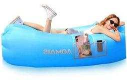 Inflatable Lounger Outdoor Beach Chair Air Sofa with Awning