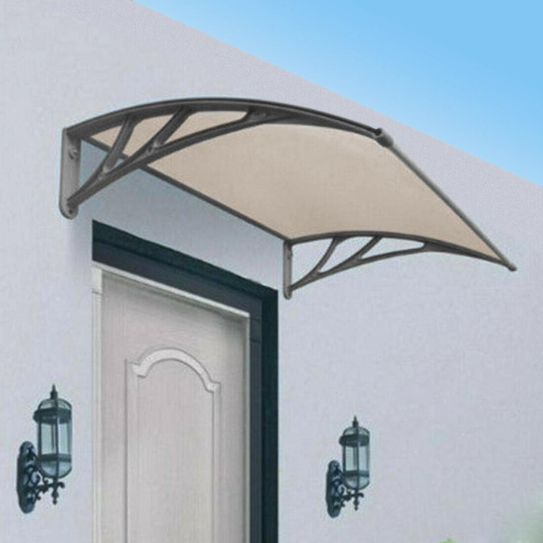 durable solid polycarbonate awnings uv protected