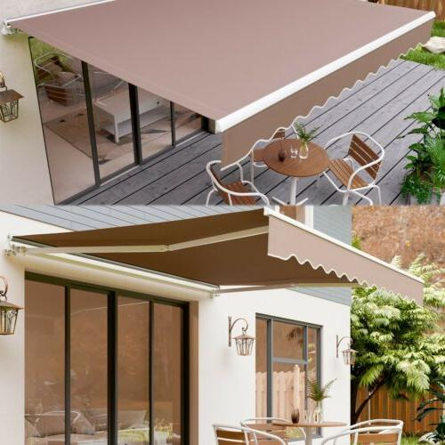 manual patio awning retractable canopy cover deck