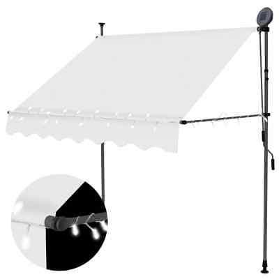 manual retractable awning with led 78 7