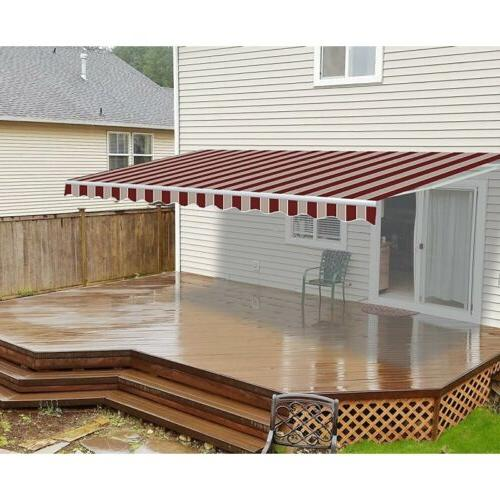 motorized retractable patio awning 16 x 10
