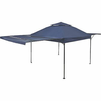 pop up gazebo with 2 awnings 10ft