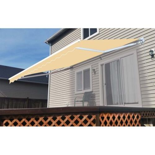 retractable patio awning 10 x 8 ft