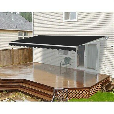 retractable home patio canopy awning 10 x