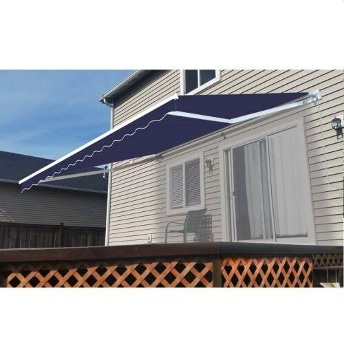retractable patio awning 13 x 8 ft