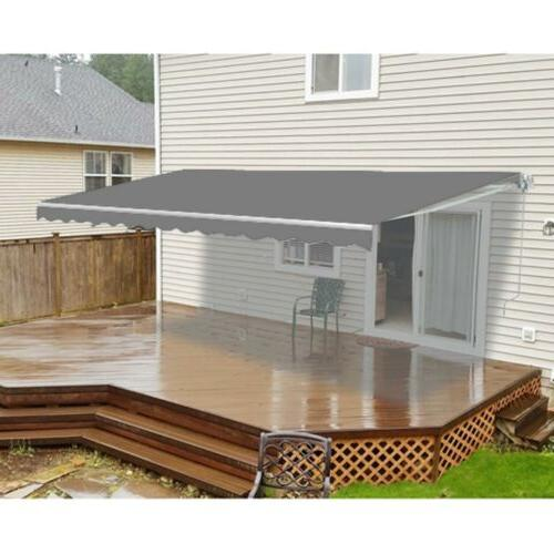 motorized retractable patio awning 20 x 10