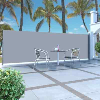 retractable side awning 63 x196 9 gray