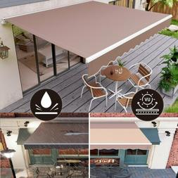 Manual Patio Awning Retractable Canopy Cover Deck Door Outdo