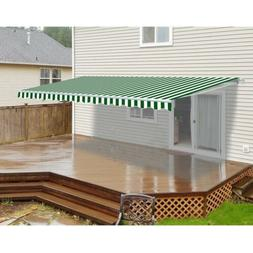 ALEKO Motorized Retractable Patio Awning 16 X 10 Ft Green an