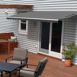 ALEKO Motorized Retractable Patio Awning 20 X 10 Ft Grey Col