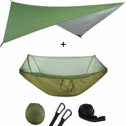 Outdoor Automatic Quick Open Mosquito Net Hammock Tent With