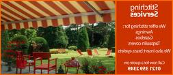 Outdoor Awning & Gazebo Fabric 71 Plain Colours UV Stable &
