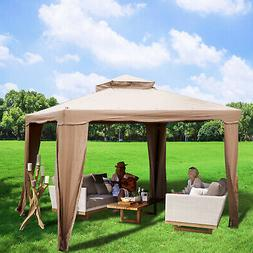 Patio Gazebo Canopy 10x10ft Outdoor 2Tier Tent Shelter Awnin