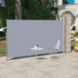 """Patio Retractable Side Awning 63""""x118"""" Gray"""