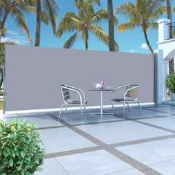 """Retractable Side Awning 63""""x196.9"""" Cream"""