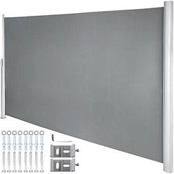 Retractable Side Awning Patio Screen Retractable Fence 63x11
