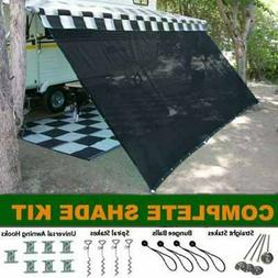 RV Awning Shade Kit RV Shade Complete Kit 8x18
