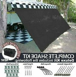 RV Awning Shade Motorhome Patio Sun Screen Complete Deluxe K