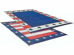 RV Patio Mat American Flag Awning Mat USA Camping Mat Traile