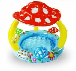 Swimming Pool With Baby Awning Pool Basin Mushroom Baby Chil