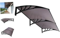 VIVOHOME Polycarbonate Window Door Awning Canopy Brown with