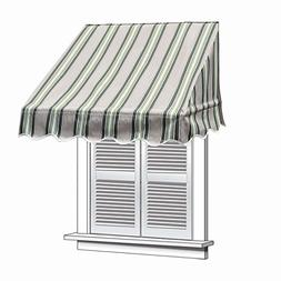ALEKO WAW8X2MSTRGR58 Window Canopy Awning 8 x 2 Feet Multi-S