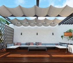 Wire Canopy Retractable Awning Replacement Cover for Pergola